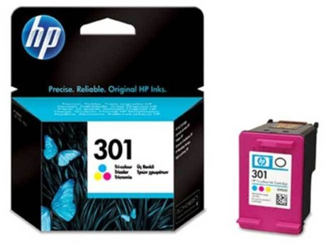 301 color HP CH562EE Оригинална касета мастилена глава (цветна)